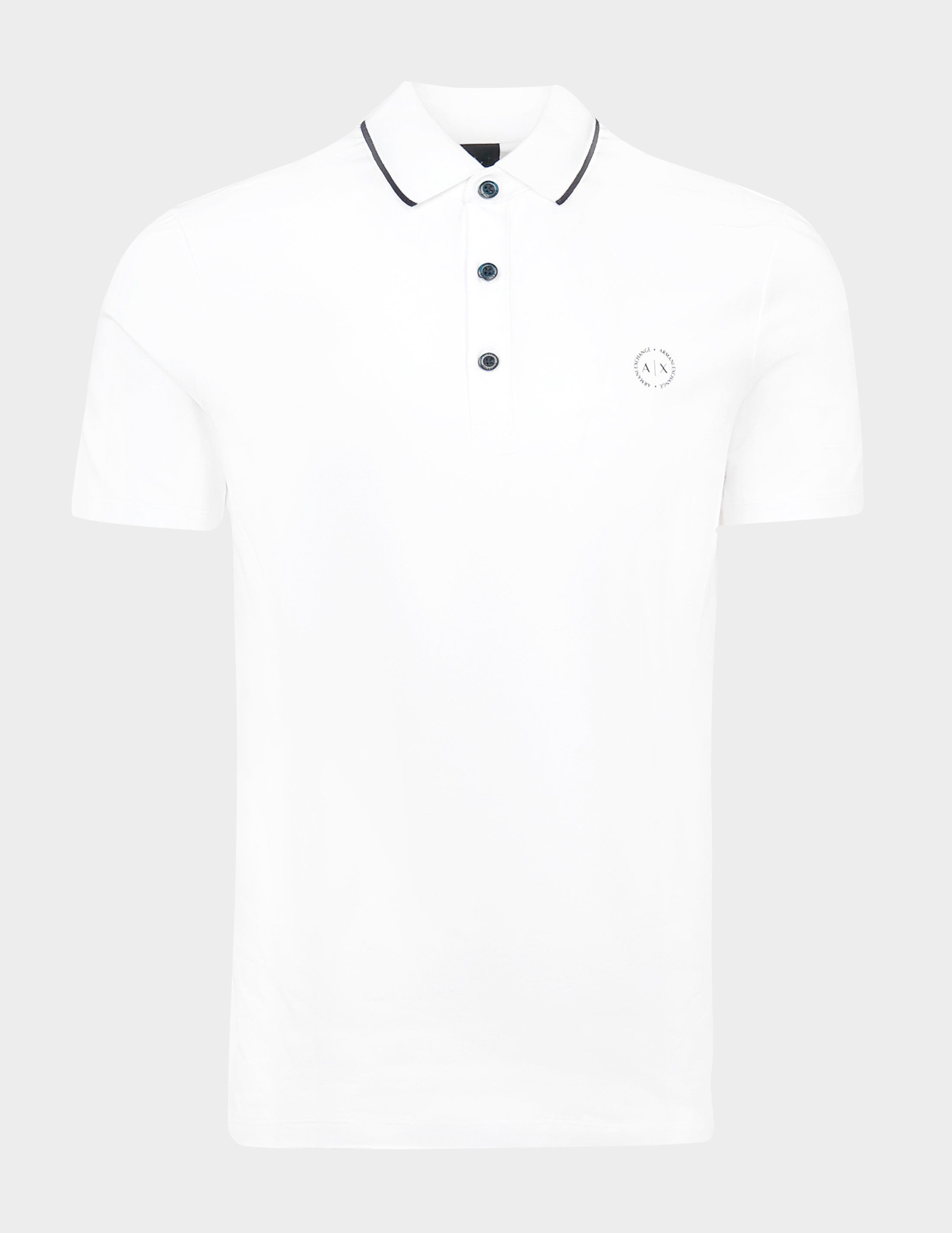 Armani Exchange Tipped Short Sleeve Polo Shirt - Online Exclusive