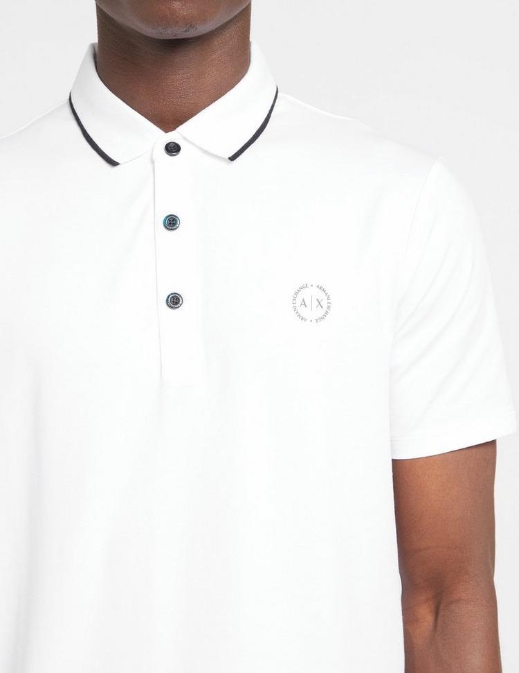 Armani Exchange Tipped Short Sleeve Polo Shirt
