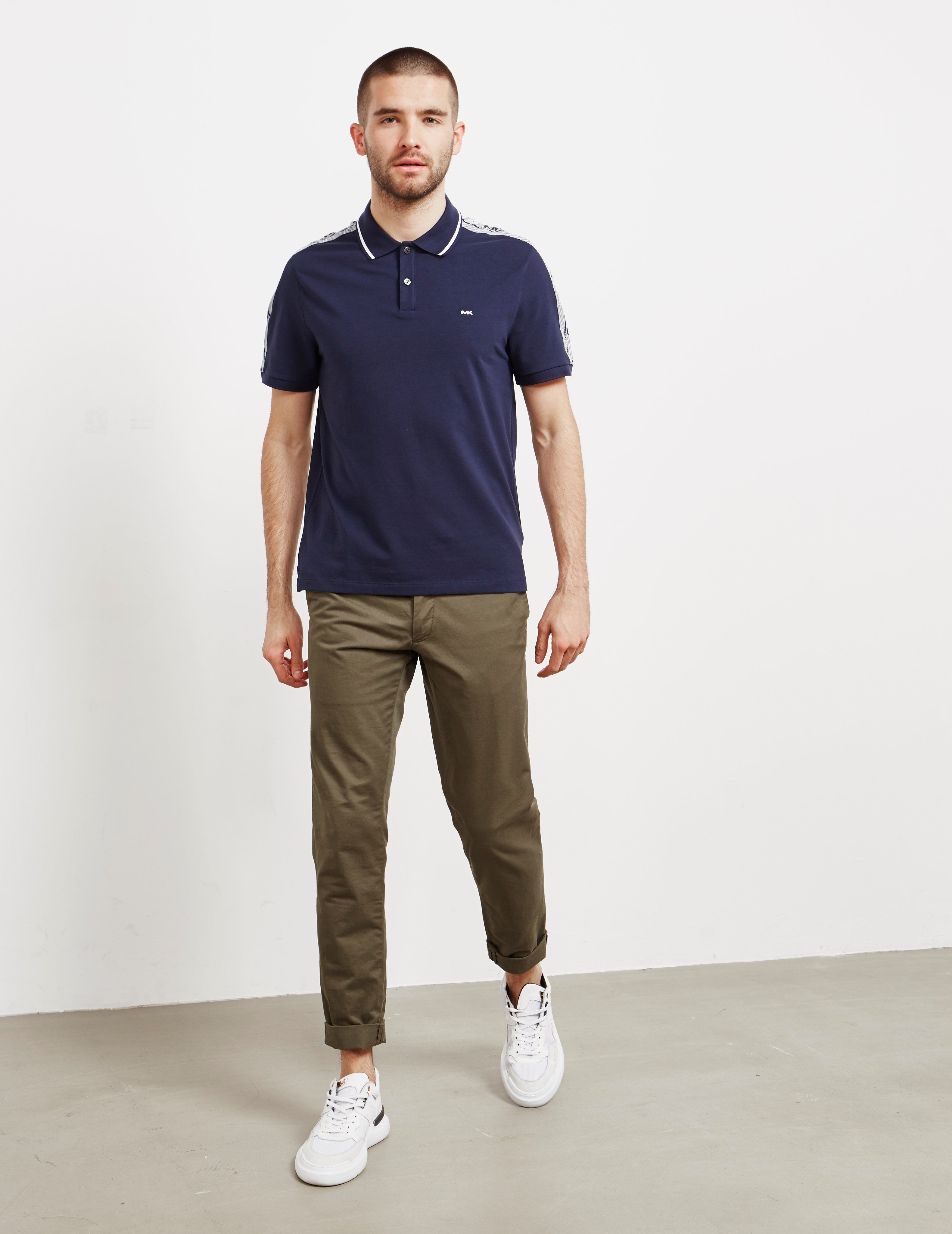 Michael Kors Tape Shoulder Short Sleeve Polo Shirt