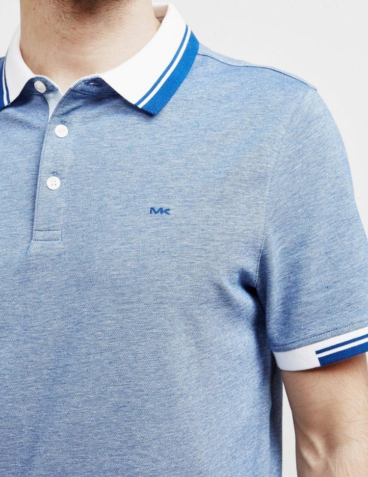 Michael Kors Contrast Collar Short Sleeve Polo Shirt