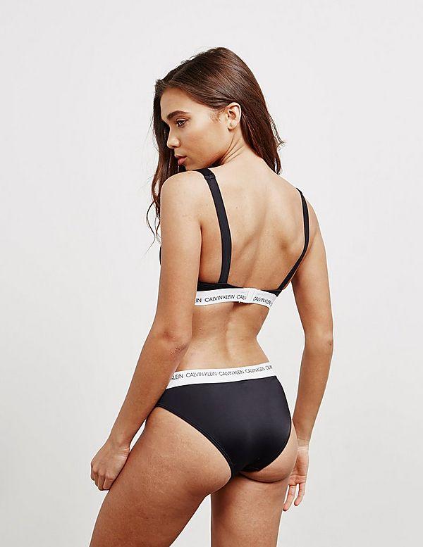 Calvin Klein Swim Logo Bikini Bottoms