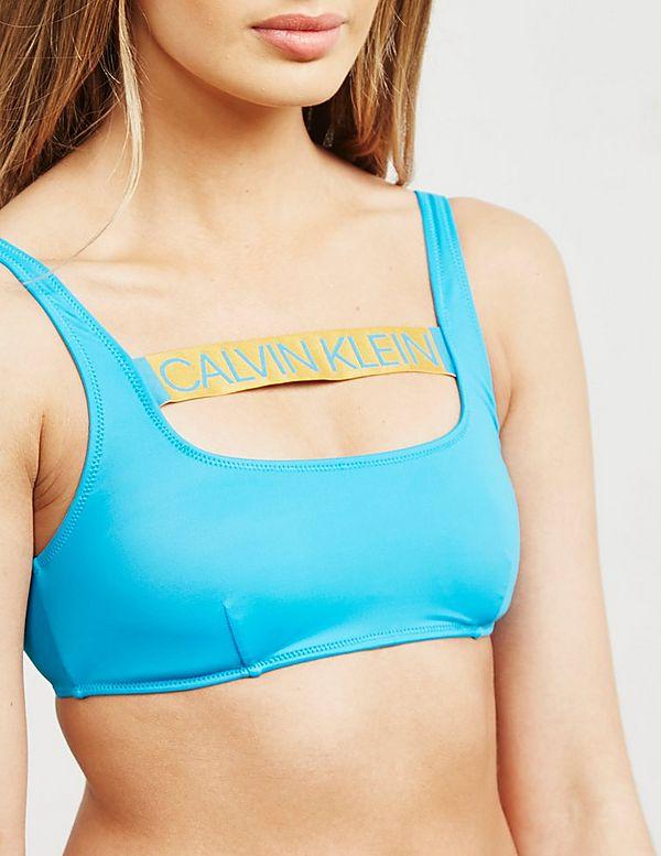 Calvin Klein Swim Logo Band Bikini Top