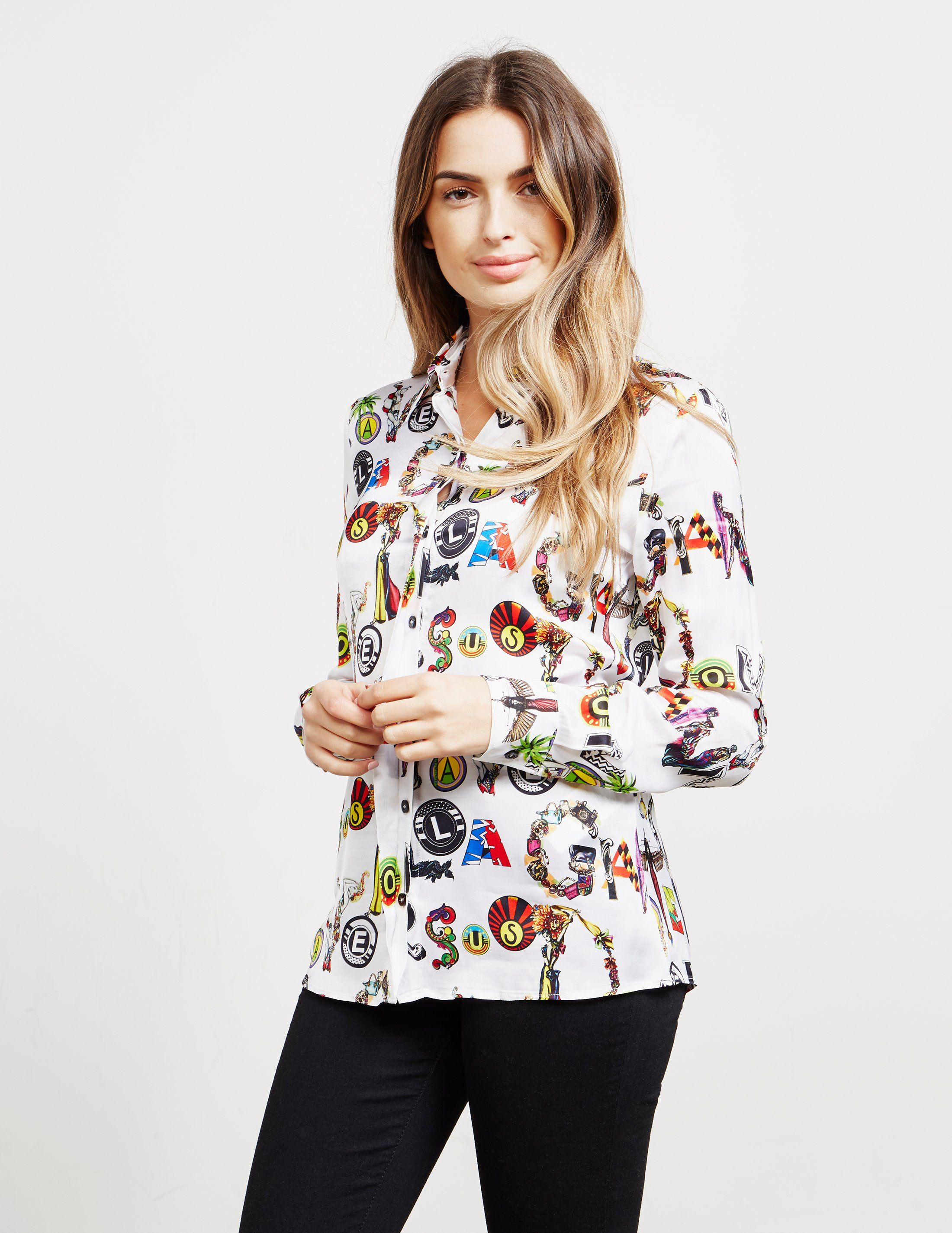 Versus Versace Graphic Long Sleeve Shirt - Online Exclusive