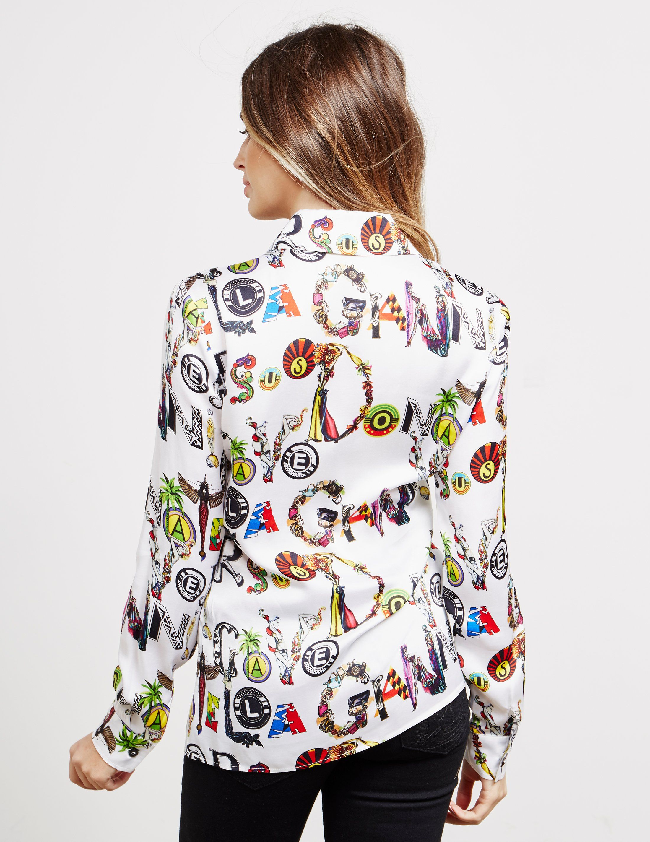 Versus Versace Graphic Long Sleeve Shirt - Online Exclusive