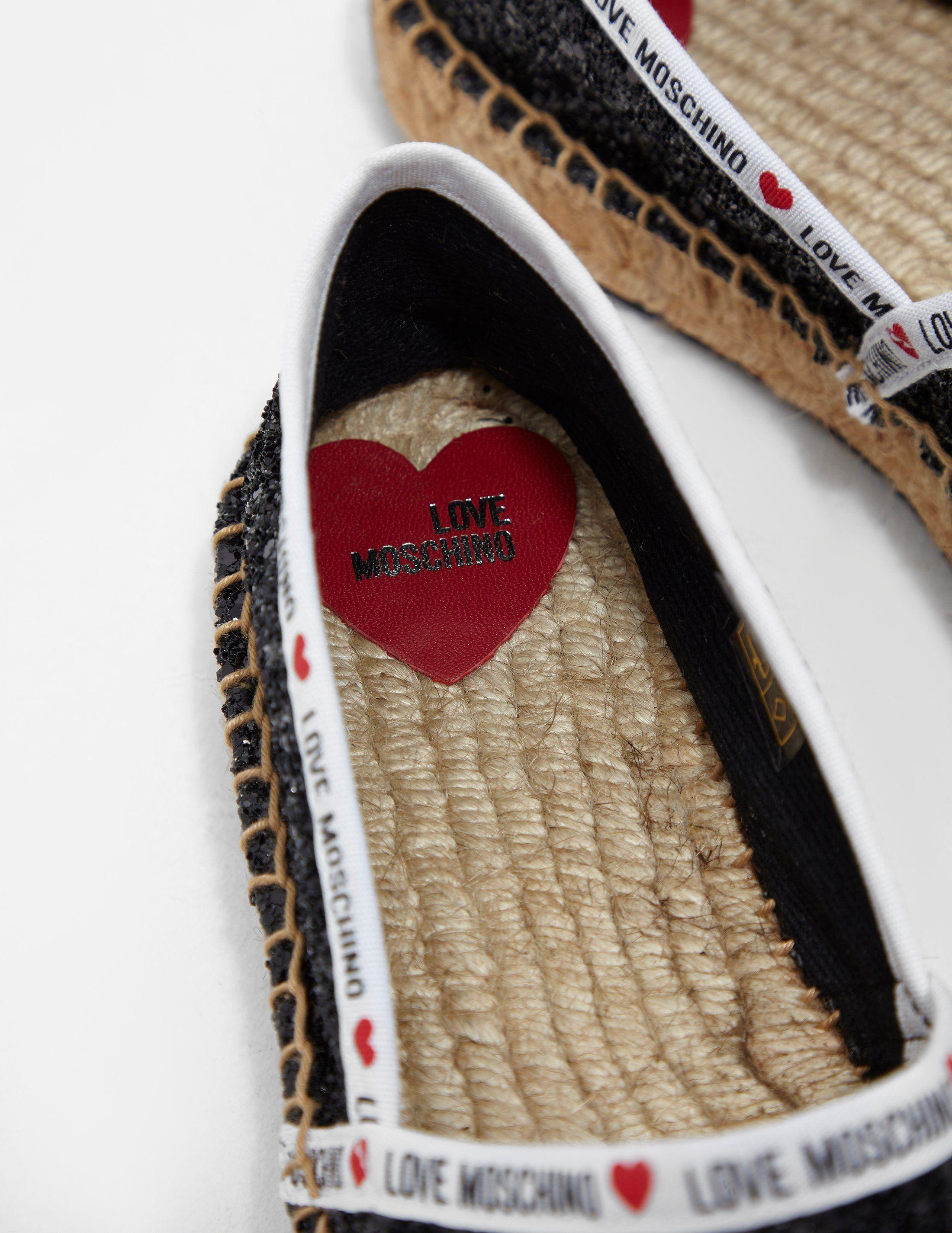 Love Moschino Tape Sequin Espadrilles