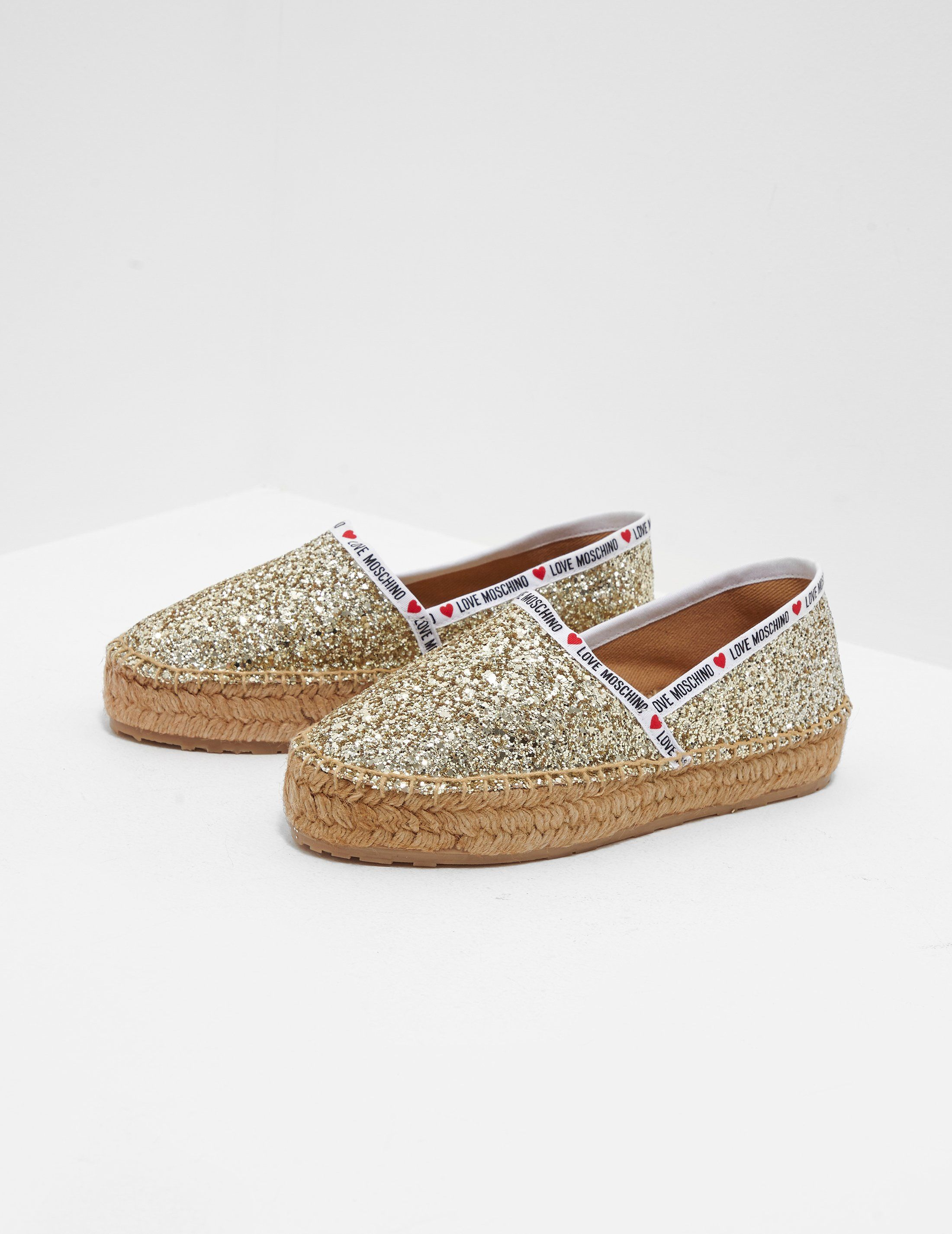 Love Moschino Tape Sequin Espadrilles