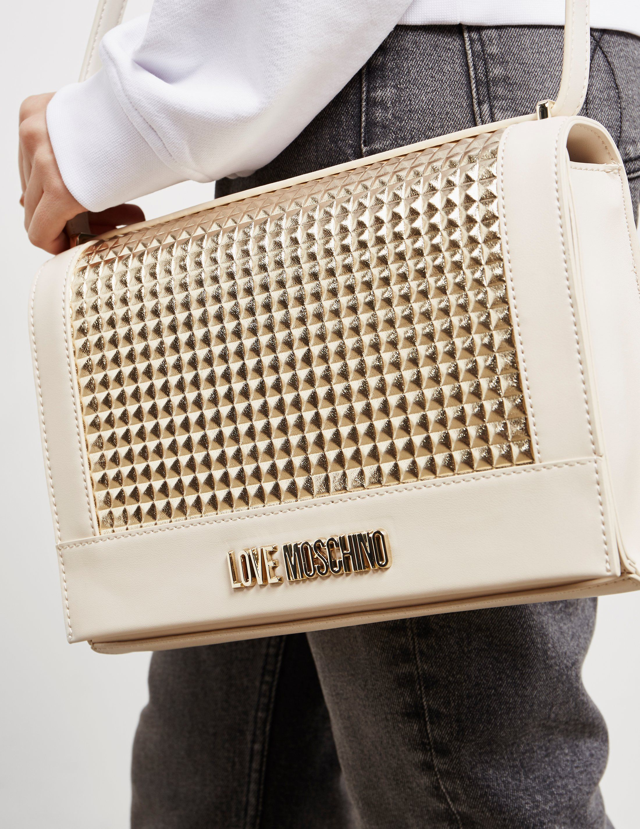 Love Moschino Soft Stud Shoulder Bag