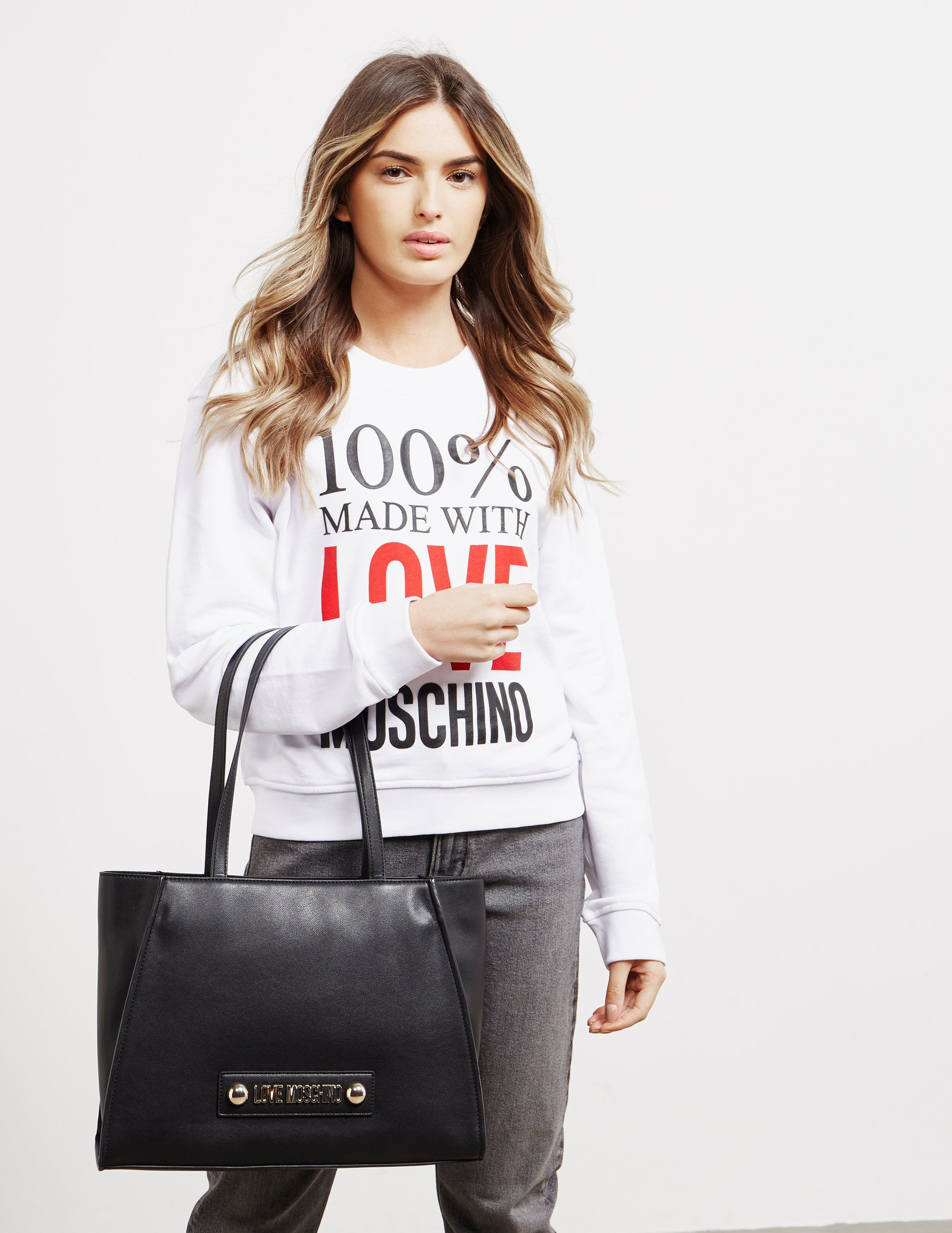 Love Moschino Scarf Shopper Bag
