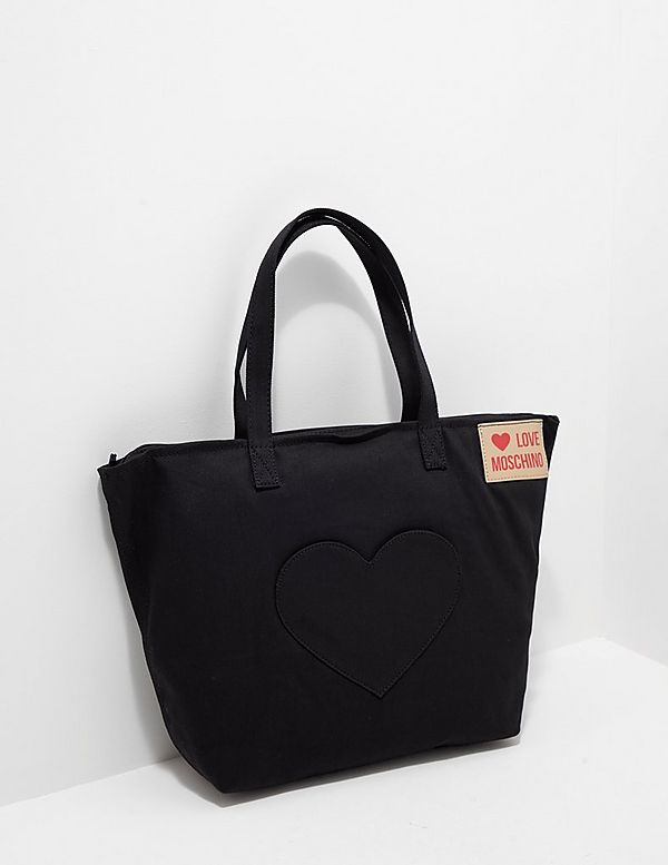 6c1d57bb450 Love Moschino Heart Canvas Tote Bag - Online Exclusive | Tessuti