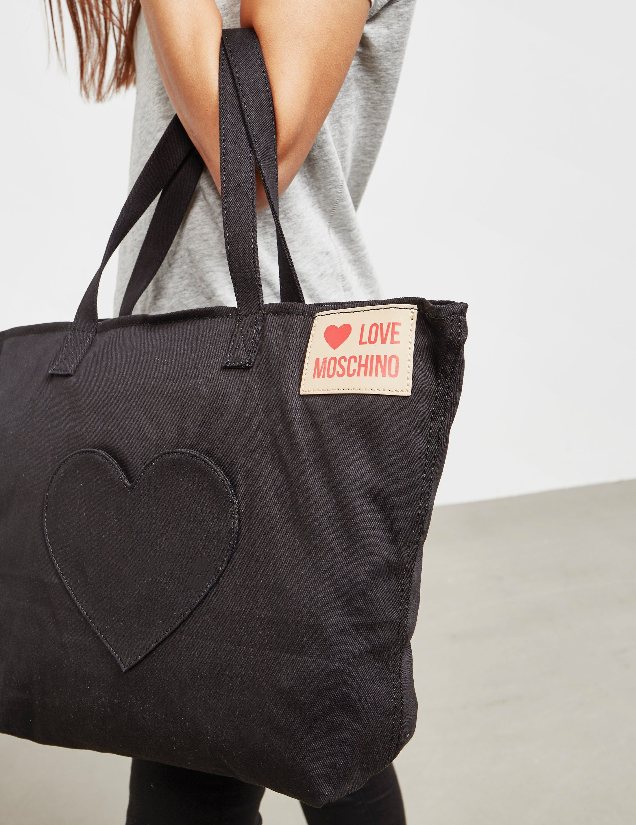 Love Moschino Heart Canvas Tote Bag - Online Exclusive
