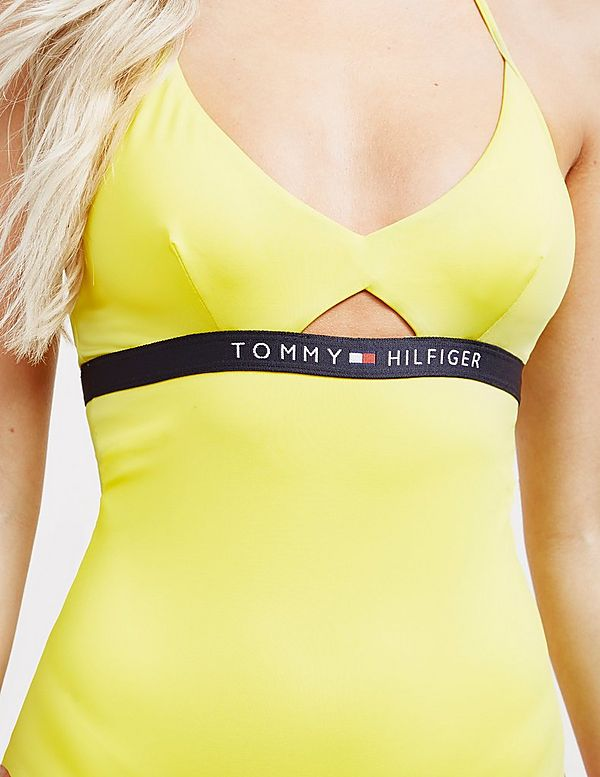 Tommy Hilfiger Swim Halterneck Swimming Costume