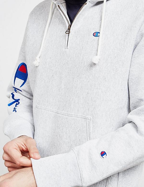Champion Arm Logo Half Zip Hoodie