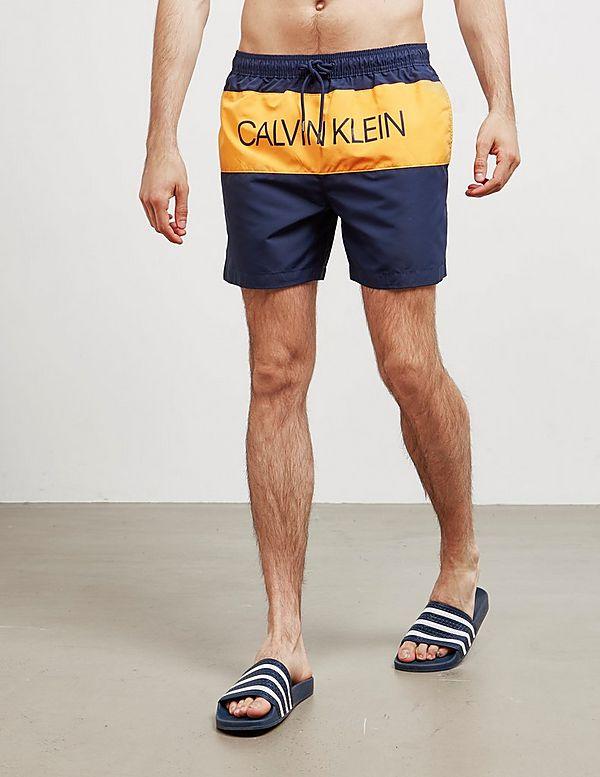 Calvin Klein Panel Logo Swim Shorts