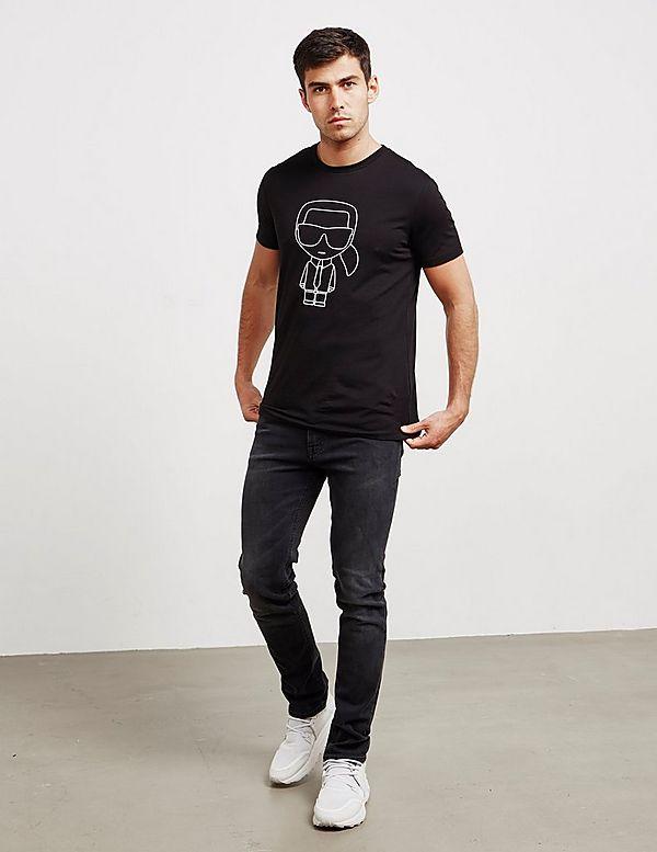 Karl Lagerfeld Stencil Short Sleeve T-Shirt