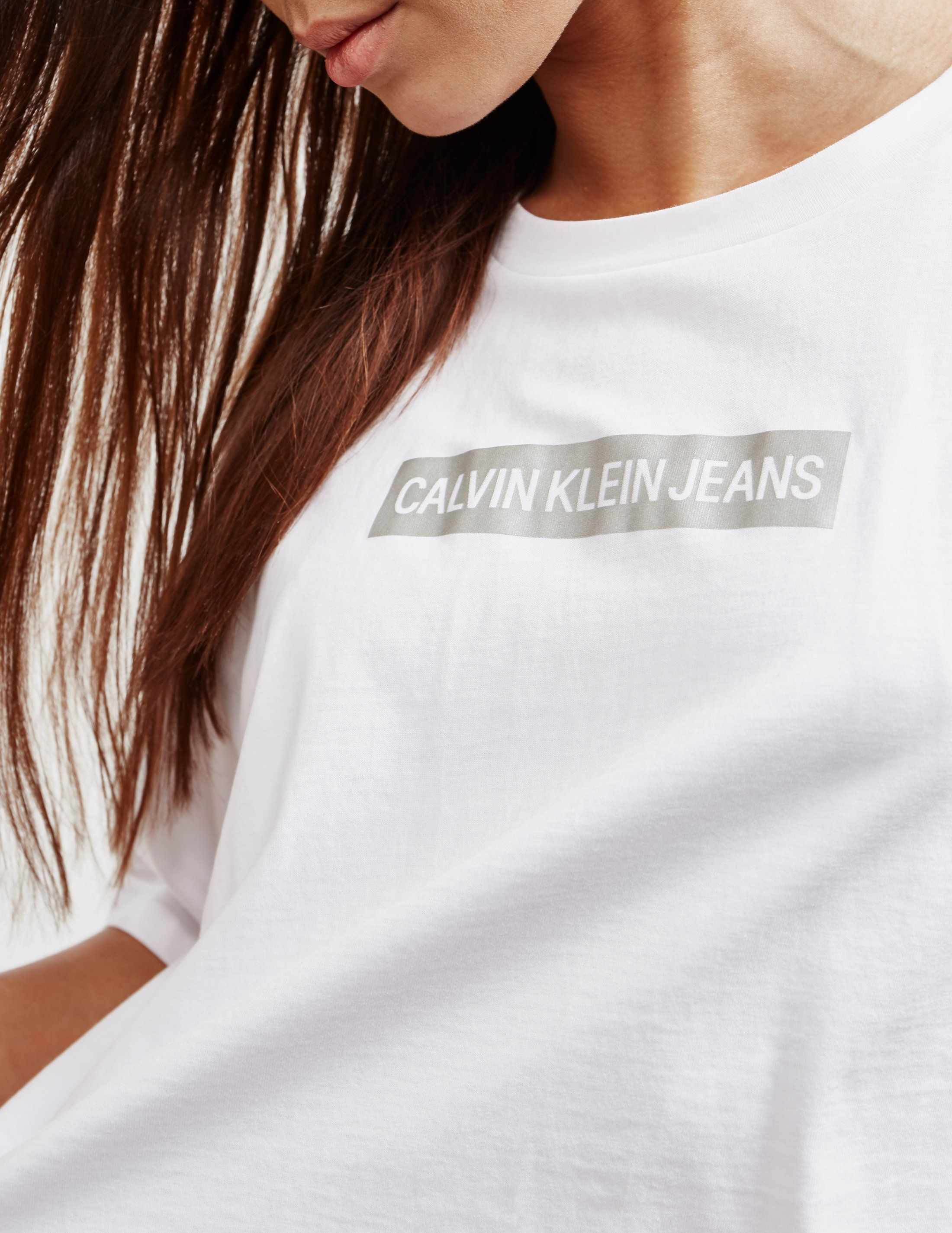 Calvin Klein Jeans Institutional Metallic Short Sleeve T-Shirt