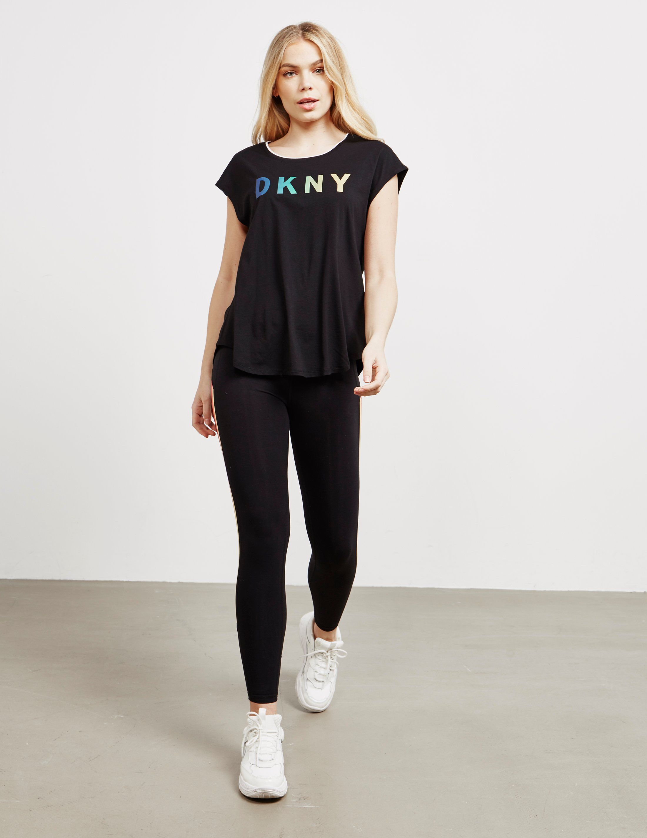DKNY Rainbow Logo Short Sleeve T-Shirt