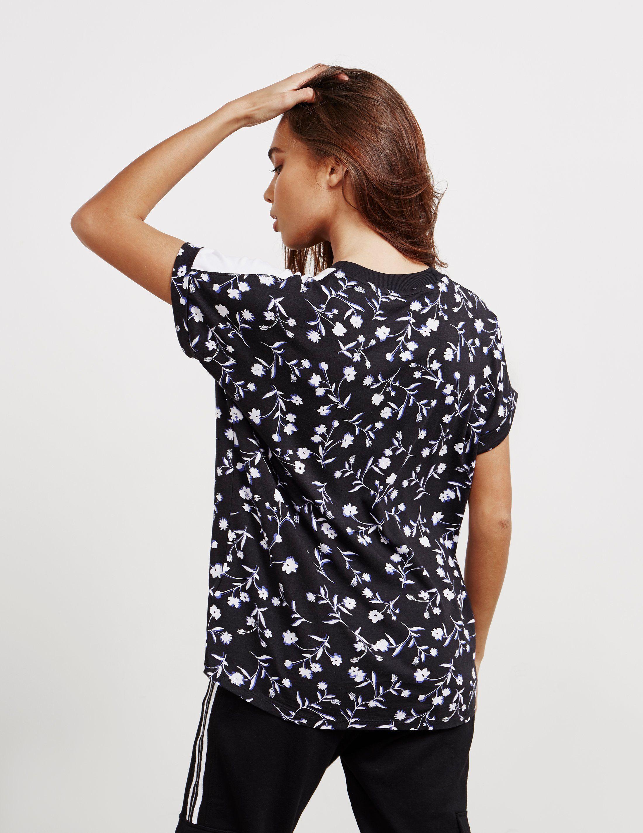 DKNY Floral Logo Short Sleeve T-Shirt