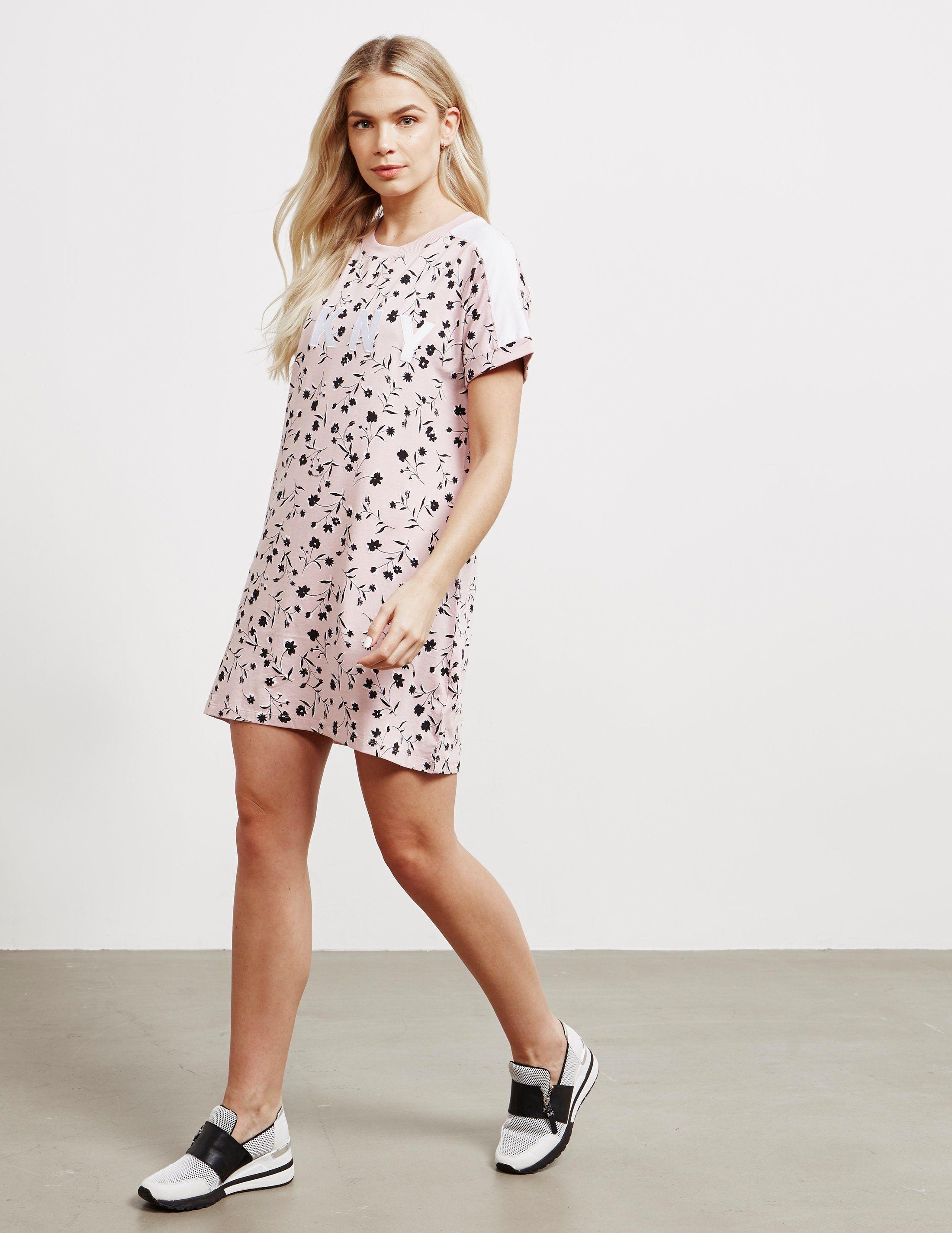 DKNY Floral T-Shirt Dress