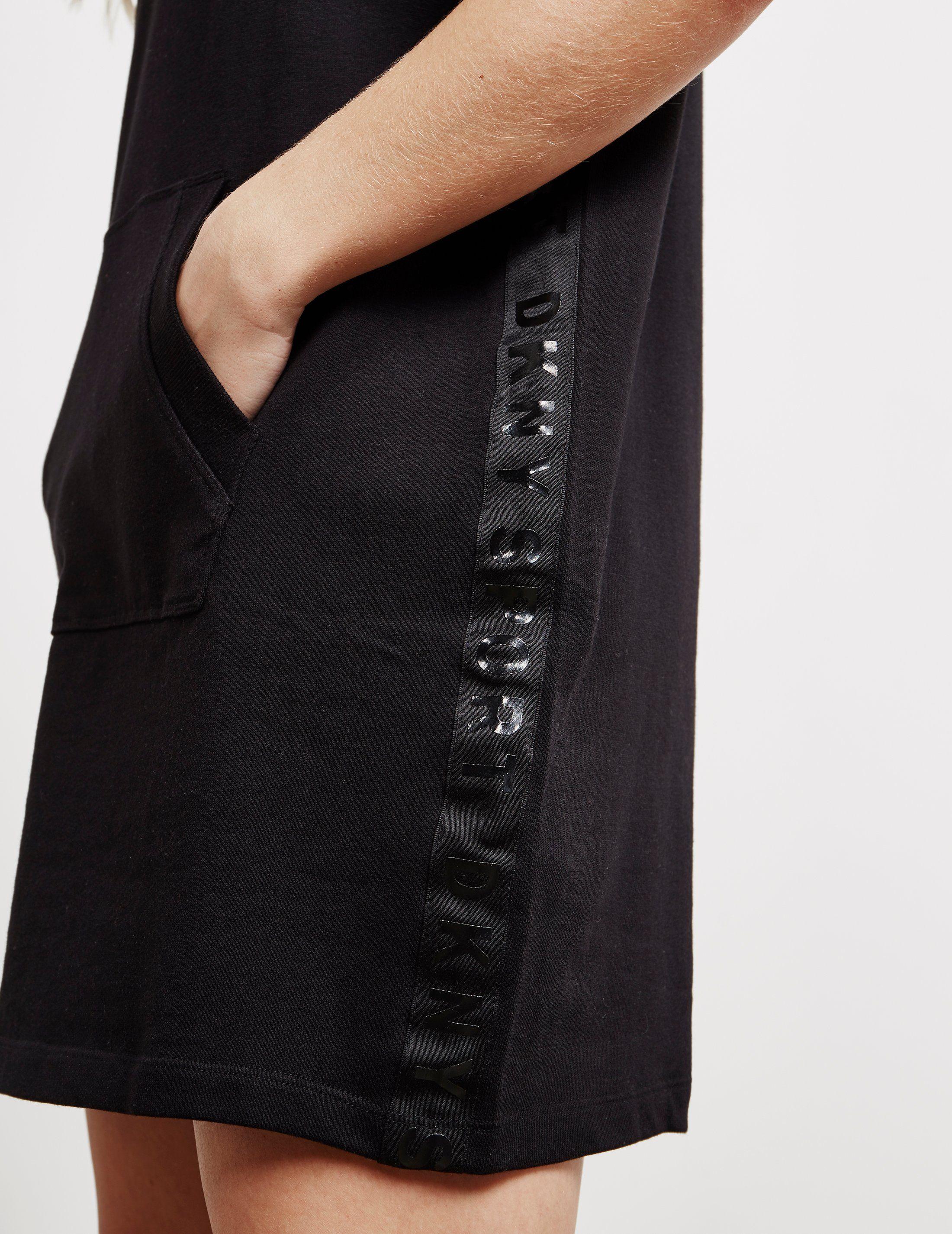 DKNY Zip Neck Logo Dress