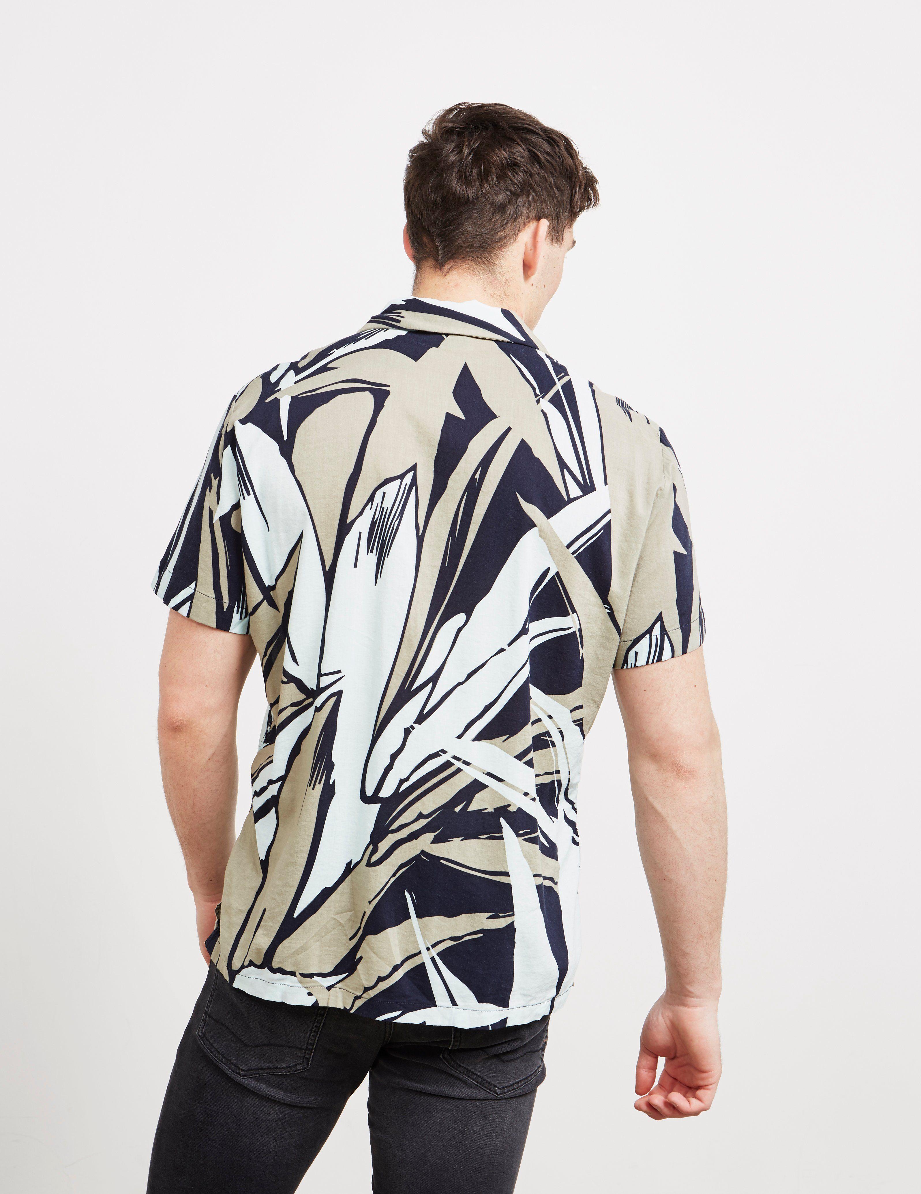 BOSS Rhythm Leaf Short Sleeve Shirt