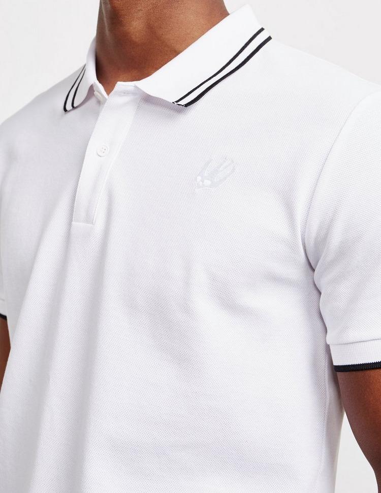 McQ Alexander McQueen Tipped Short Sleeve Polo Shirt