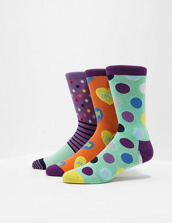 Happy Socks 3-Pack Love Mom Socks - Online Exclusive