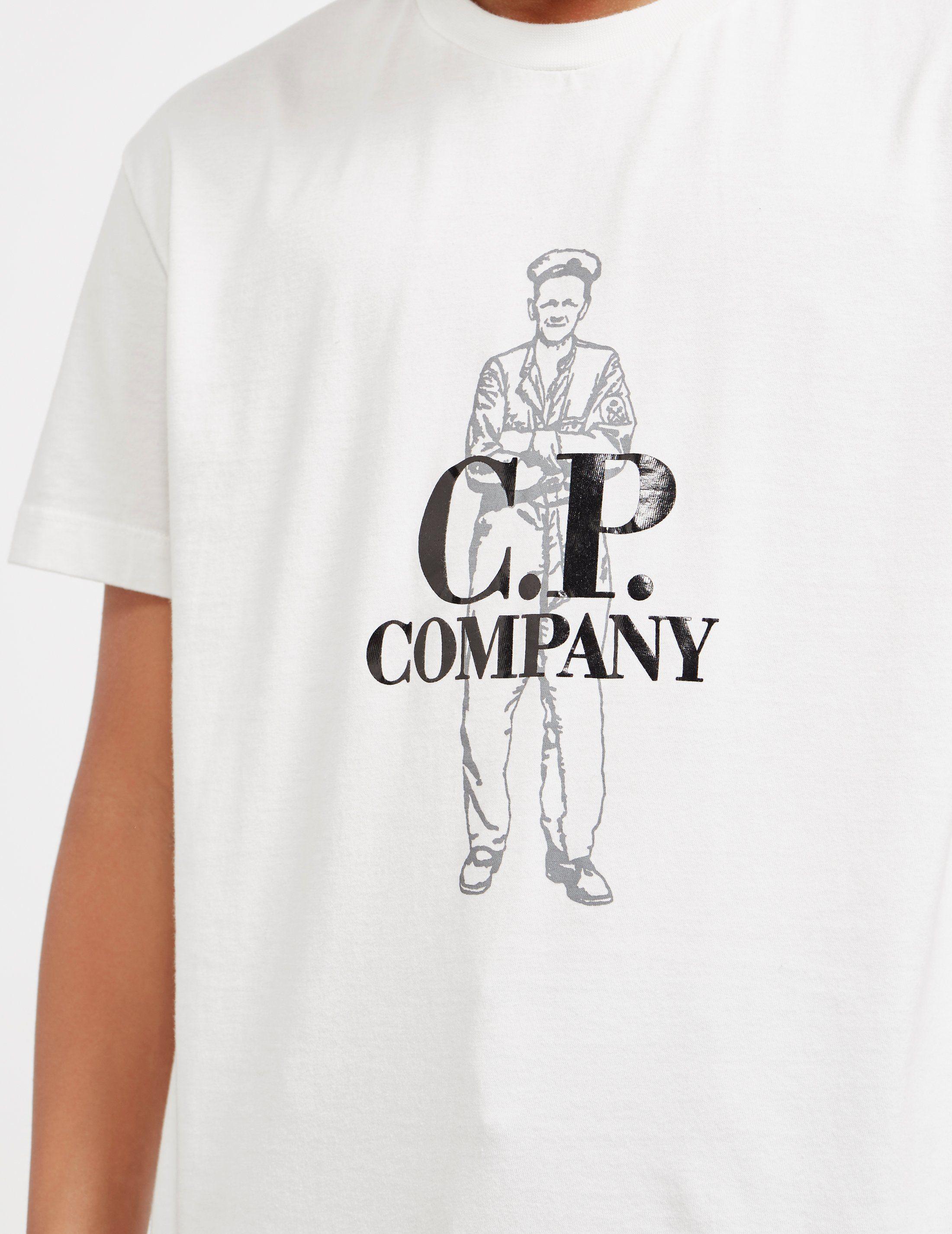 CP Company Man Logo Short Sleeve T-Shirt