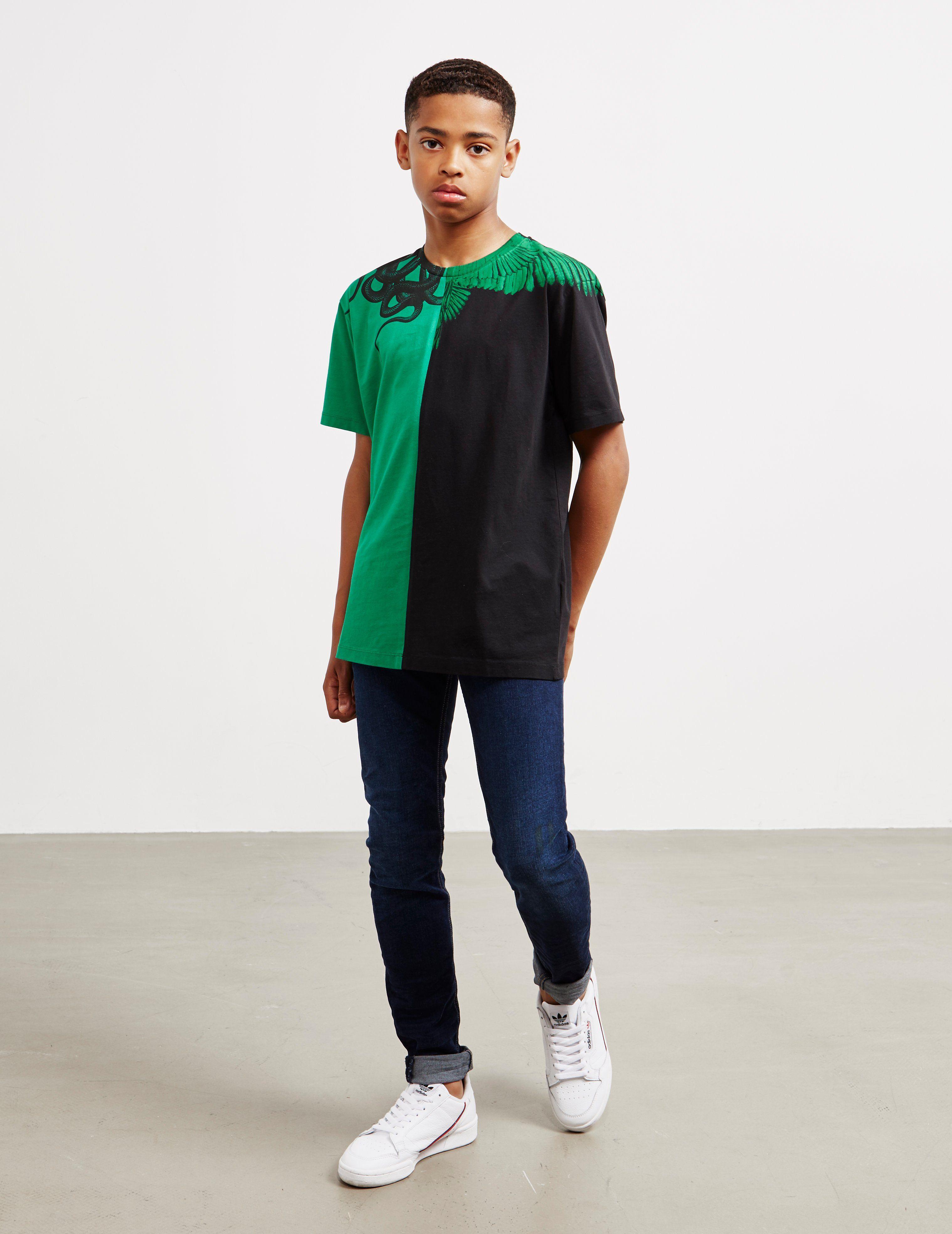Marcelo Burlon Split Short Sleeve T-Shirt