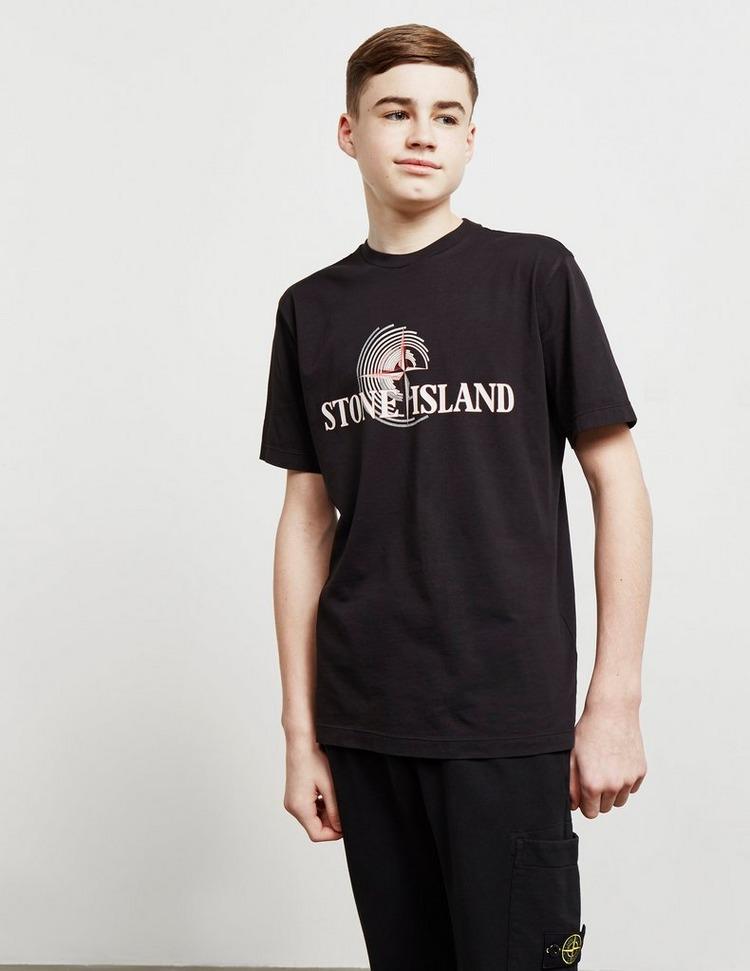 Stone Island Large Text Short Sleeve T-Shirt