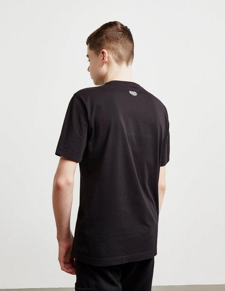 Stone Island Junior Large Text Short Sleeve T-Shirt