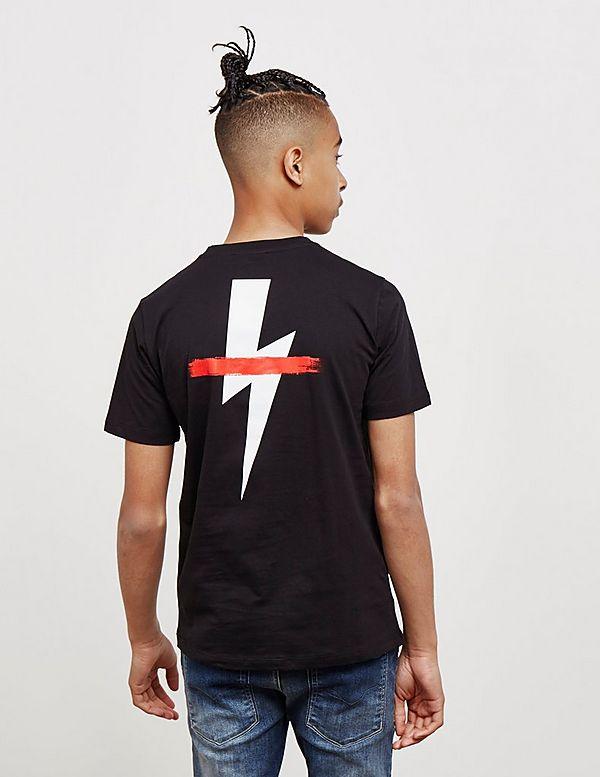 Neil Barrett Bolt Strike Short Sleeve T-Shirt