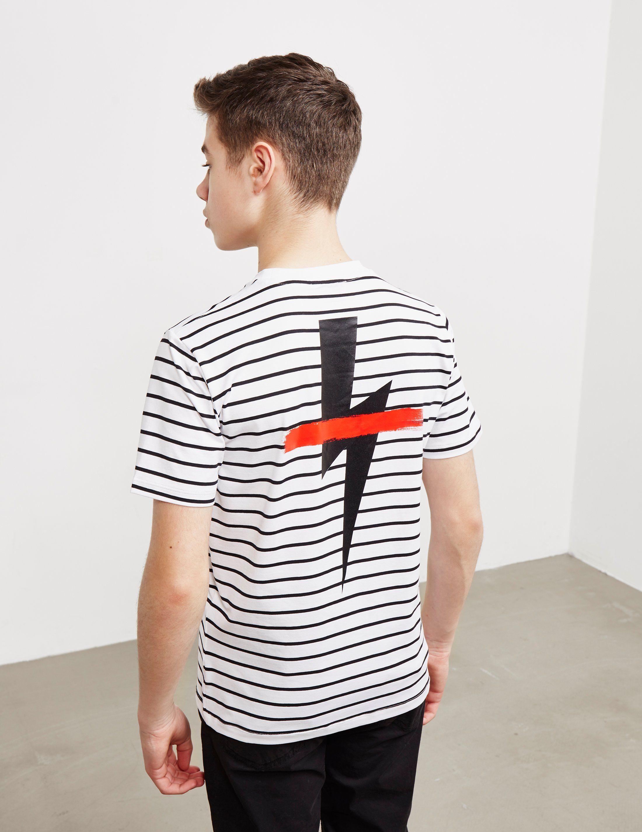 Neil Barrett Stripe Bolt Short Sleeve T-Shirt