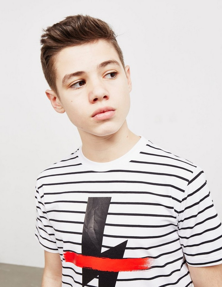 Neil Barrett Stripe Bolt Short Sleeve T-Shirt