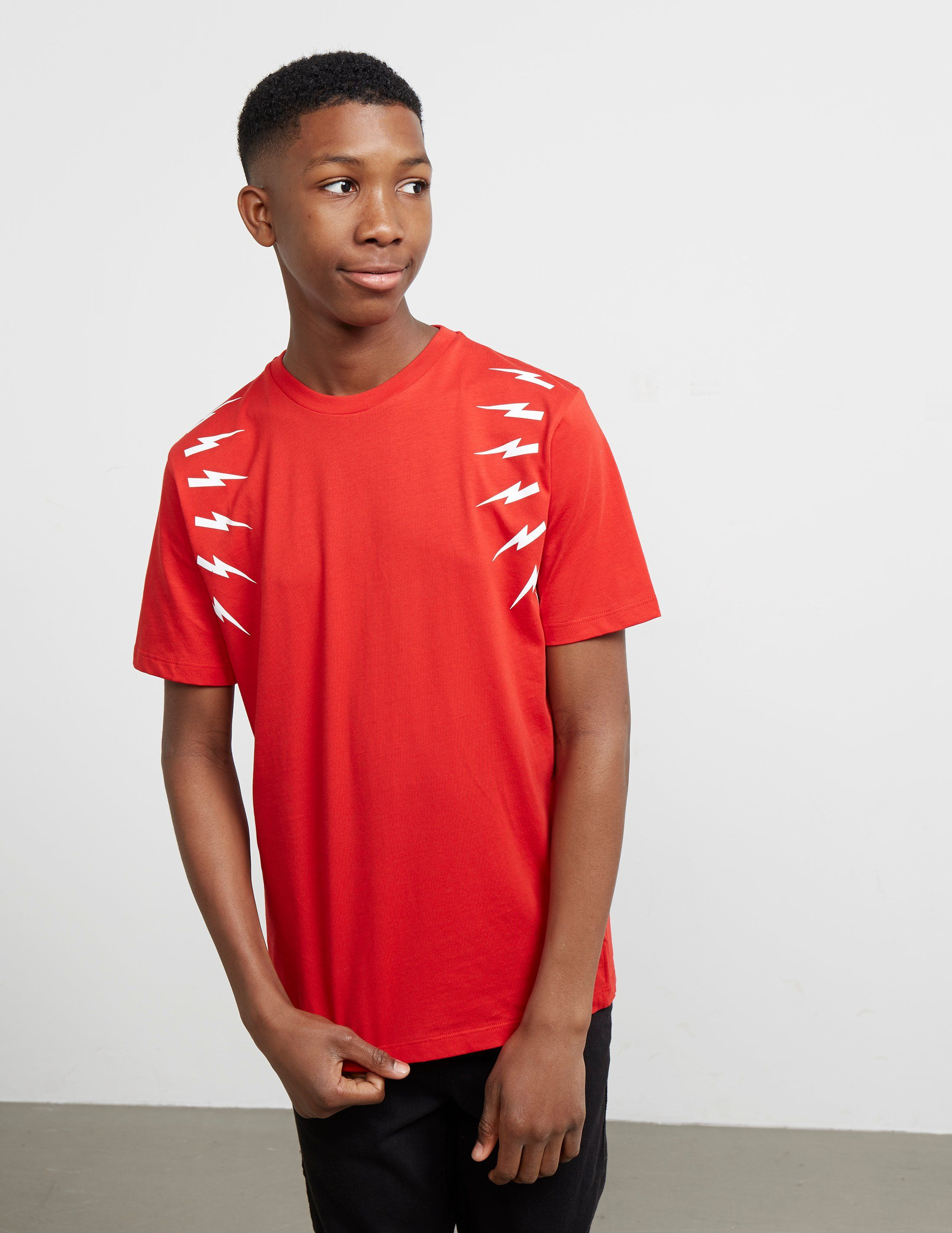 Neil Barrett Multi Bolt Short Sleeve T-Shirt