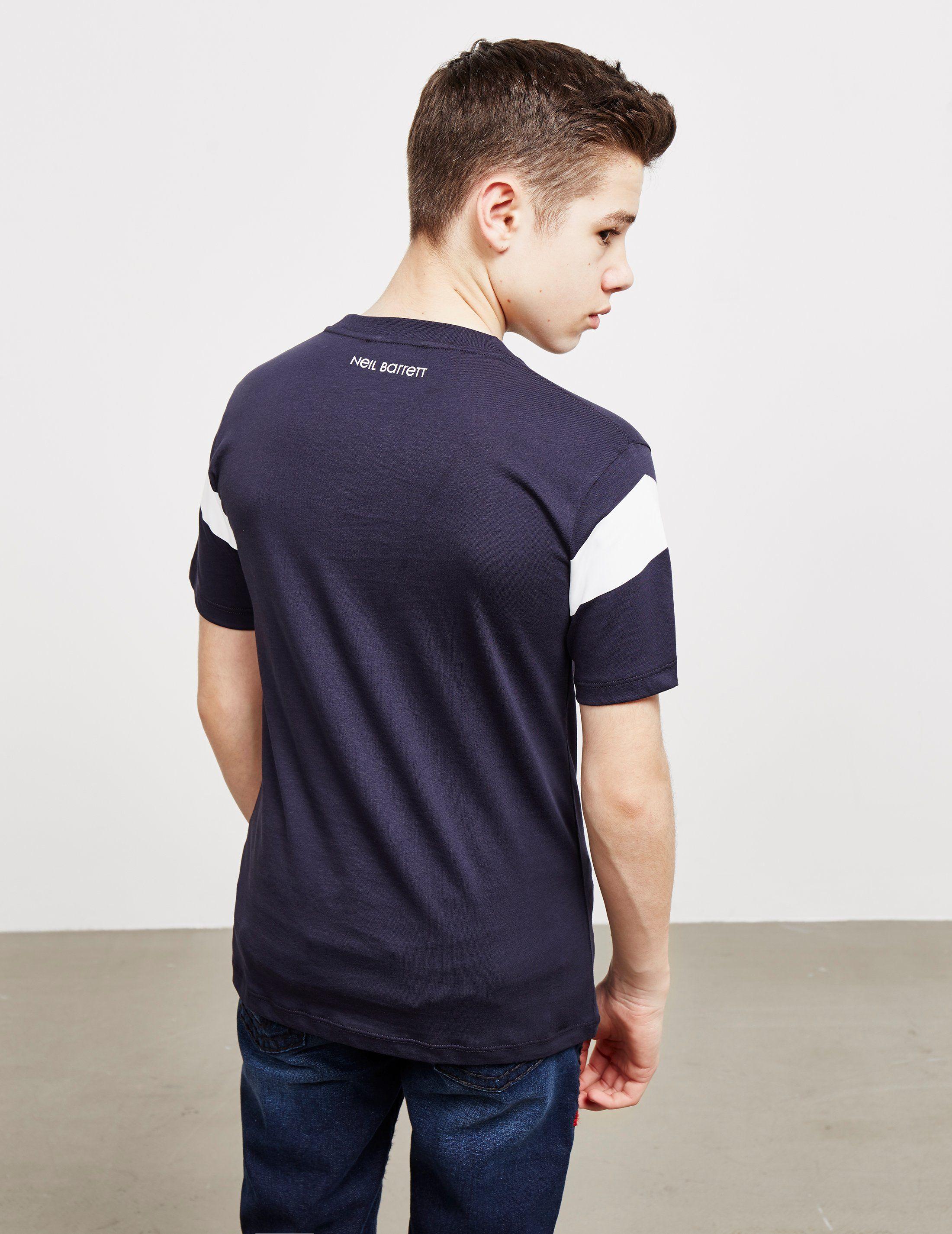 Neil Barrett Mirror Bolt Short Sleeve T-Shirt