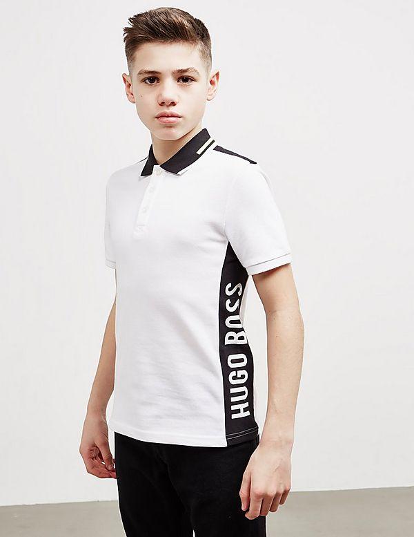 a0efc5639 BOSS Tape Logo Short Sleeve Polo Shirt | Tessuti