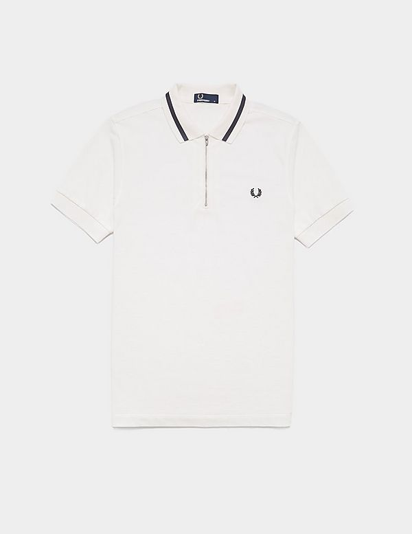 ddd20312a Fred Perry Zip Collar Short Sleeve Polo Shirt