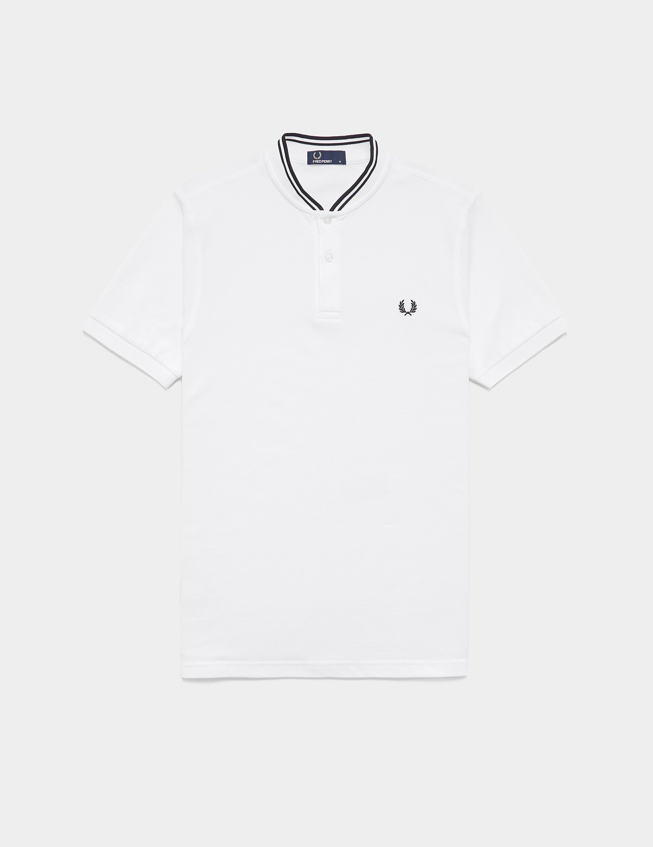 9d08aa14 Fred Perry Bomber Collar Short Sleeve Polo Shirt | Tessuti