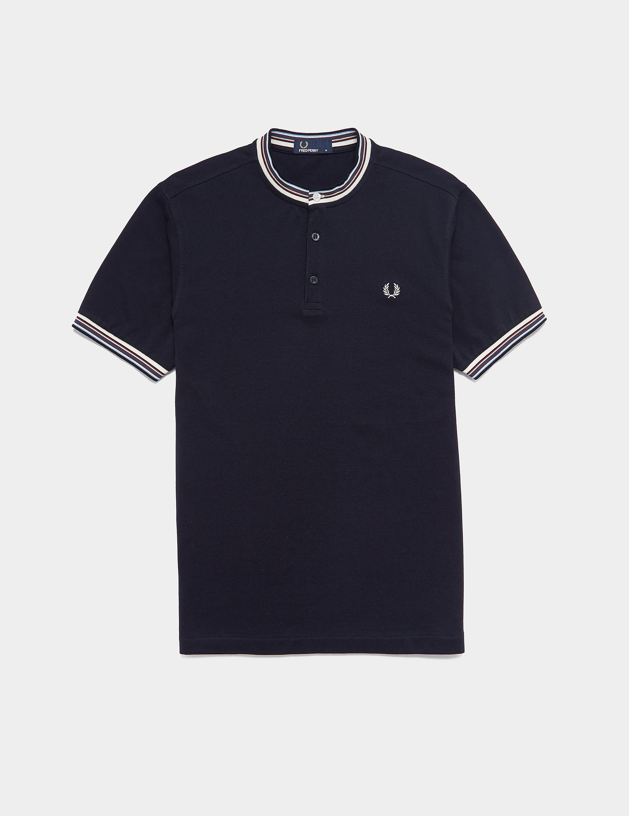 8f3d5b812 Fred Perry Henley Pique Short Sleeve Polo Shirt | Tessuti