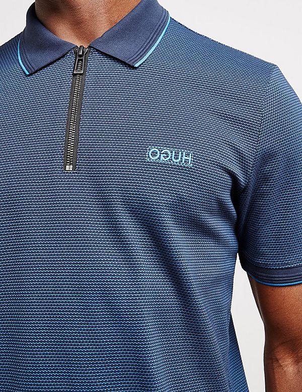 HUGO Direnze Zip Short Sleeve Polo Shirt