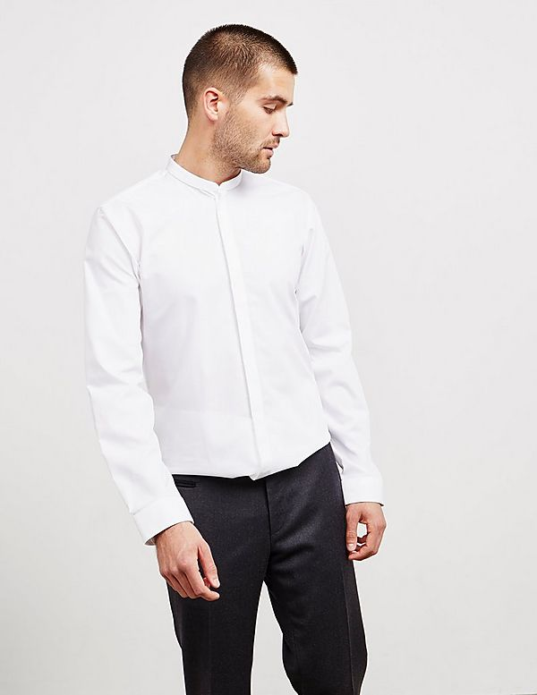 HUGO Enrique Long Sleeve Grandad Shirt