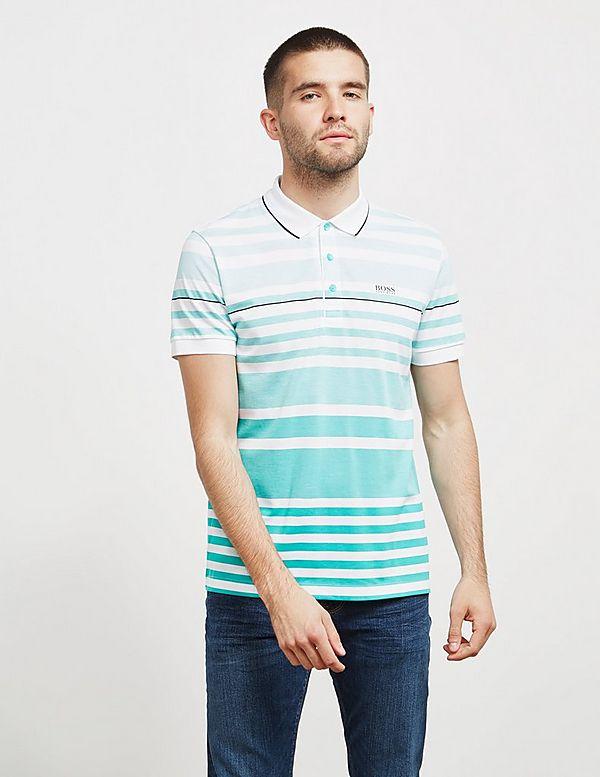 BOSS Paddy Stripe Short Sleeve Polo Shirt