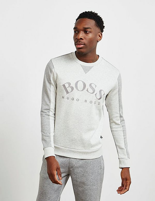 BOSS Salbo Curved Logo Sweatshirt