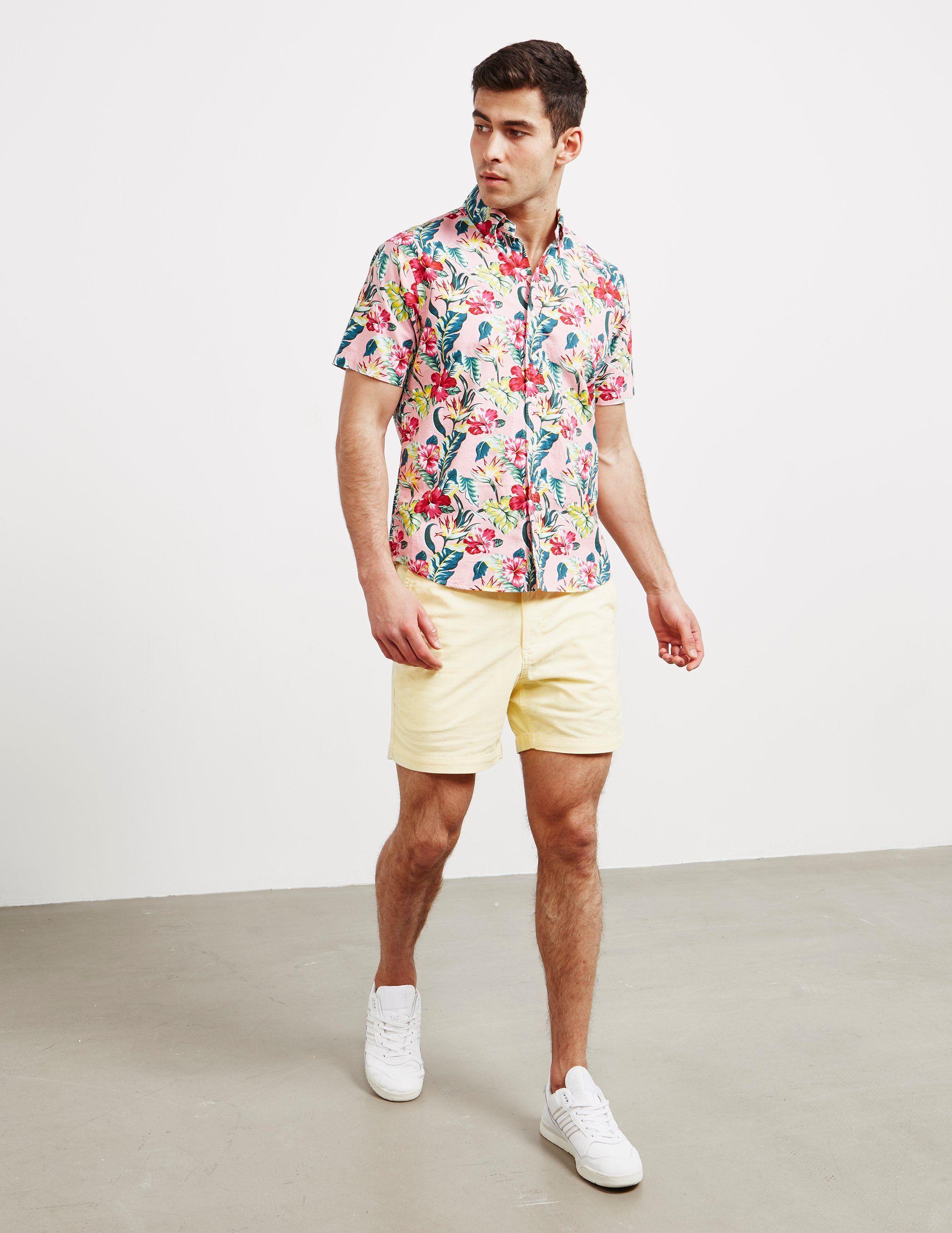 Polo Ralph Lauren Floral Short Sleeve Oxford Shirt