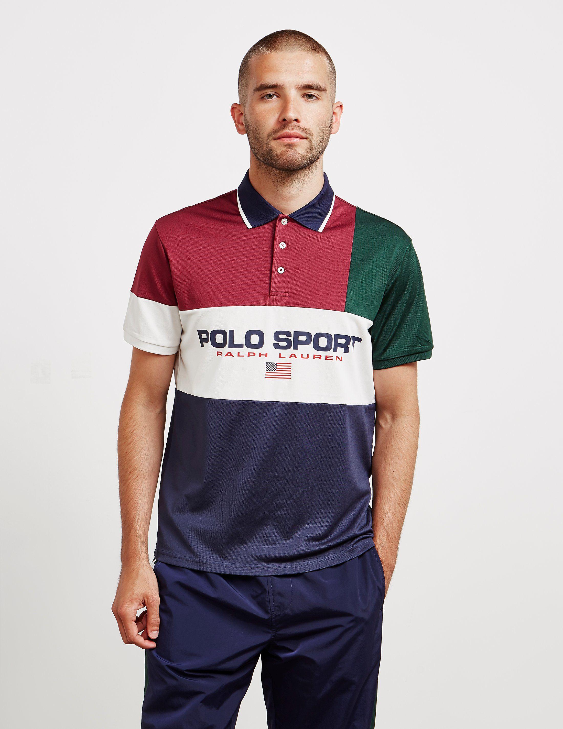 Ralph Sport Polo Sleeve Lauren Short Block ShirtTessuti PuXikZTO