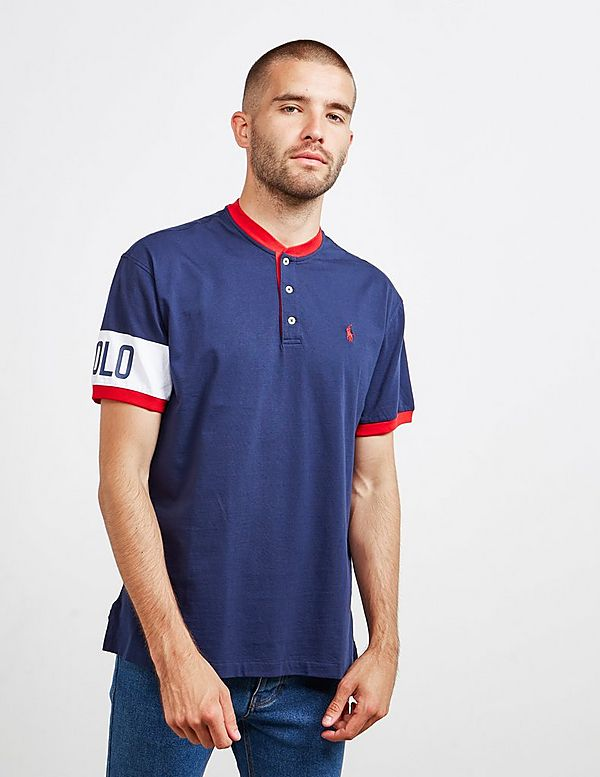 Polo Ralph Lauren Track Henley Short Sleeve Polo Shirt