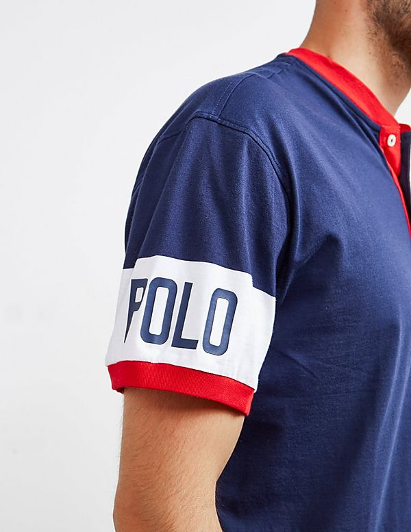 Polo Ralph Lauren Track Henley Short Sleeve Polo Shirt