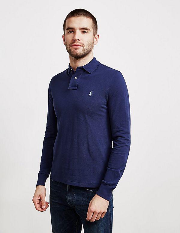 Slim Fit Long Polo Lauren ShirtTessuti Sleeve Ralph yOw80Nvmn