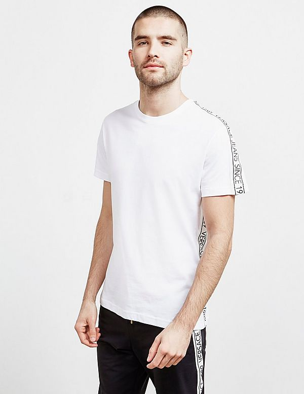 Versace Jeans Couture Tape Logo Short Sleeve T-Shirt
