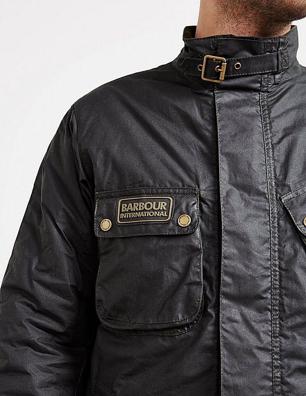 c9031dd7b8 Barbour International Lever Waxed Padded Jacket | Tessuti